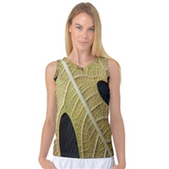 Yellow Leaf Fig Tree Texture Women s Basketball Tank Top by Nexatart
