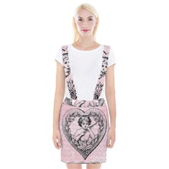 Heart Drawing Angel Vintage Suspender Skirt