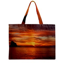 Sunset Sea Afterglow Boot Zipper Mini Tote Bag