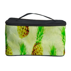 Pineapple Wallpaper Vintage Cosmetic Storage Case