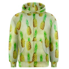 Pineapple Wallpaper Vintage Men s Zipper Hoodie