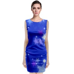 Star Bokeh Background Scrapbook Classic Sleeveless Midi Dress