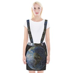World Mosaic Suspender Skirt