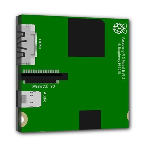 Raspberry Pi 3 Vector Mini Canvas 8  X 8