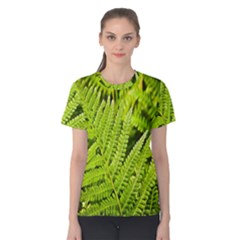 Fern Nature Green Plant Women s Cotton Tee
