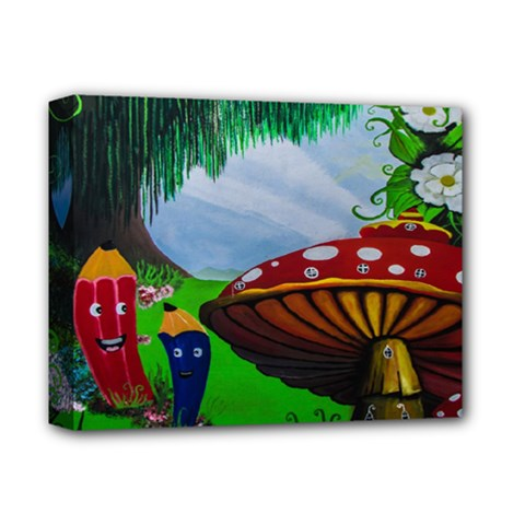 Kindergarten Painting Wall Colorful Deluxe Canvas 14  X 11  by Nexatart