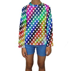 Pattern Template Shiny Kids  Long Sleeve Swimwear by Nexatart