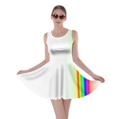 Rainbow Side Background Skater Dress