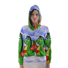 Dragon Heart Kids Love Cute Hooded Wind Breaker (women)