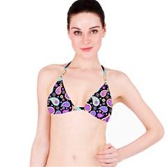 Paisley Pattern Background Colorful Bikini Top