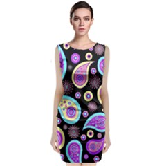 Paisley Pattern Background Colorful Classic Sleeveless Midi Dress
