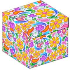 Floral Paisley Background Flower Storage Stool 12   by Nexatart