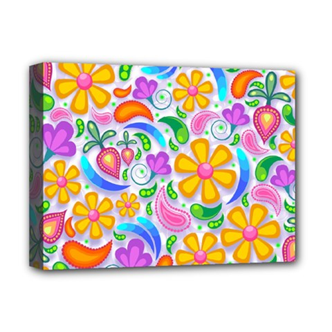 Floral Paisley Background Flower Deluxe Canvas 16  X 12   by Nexatart