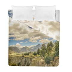 Valley And Andes Range Mountains Latacunga Ecuador Duvet Cover Double Side (full/ Double Size) by dflcprints
