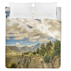 Valley And Andes Range Mountains Latacunga Ecuador Duvet Cover Double Side (queen Size) by dflcprints