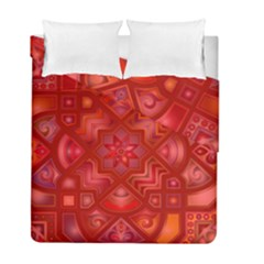 Geometric Line Art Background Duvet Cover Double Side (full/ Double Size) by Nexatart