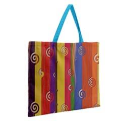 Zipper Large Tote Bag