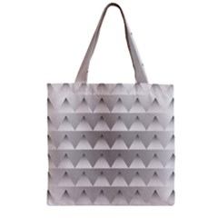 Pattern Retro Background Texture Zipper Grocery Tote Bag