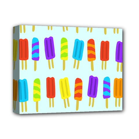 Food Pattern Deluxe Canvas 14  X 11  by Nexatart