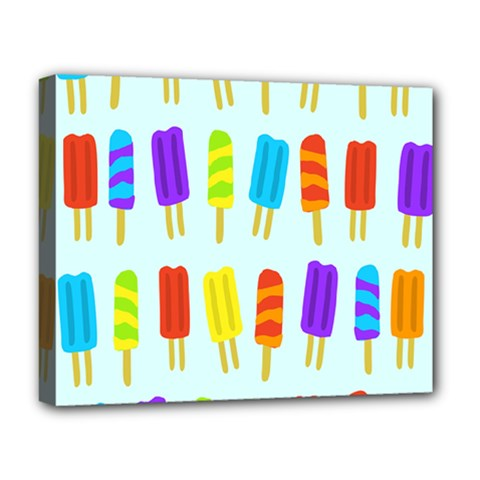 Food Pattern Deluxe Canvas 20  X 16   by Nexatart