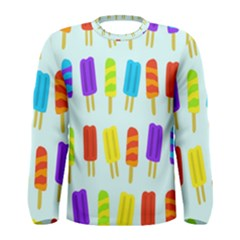 Food Pattern Men s Long Sleeve Tee