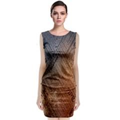 Typography Classic Sleeveless Midi Dress