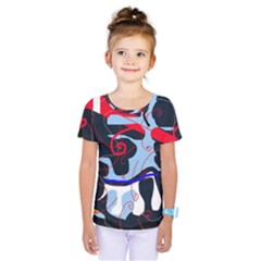 Abstraction Kids  One Piece Tee by Valentinaart