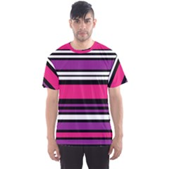 Stripes Colorful Background Men s Sport Mesh Tee
