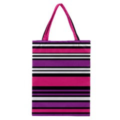 Stripes Colorful Background Classic Tote Bag by Nexatart