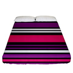 Stripes Colorful Background Fitted Sheet (king Size)
