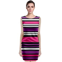 Stripes Colorful Background Classic Sleeveless Midi Dress