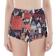 Tilt Shift Of Urban View During Daytime High Waisted Bikini Bottoms by Nexatart