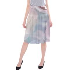 Pastel Roses Midi Beach Skirt by Brittlevirginclothing