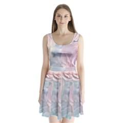Pastel Roses Split Back Mini Dress  by Brittlevirginclothing