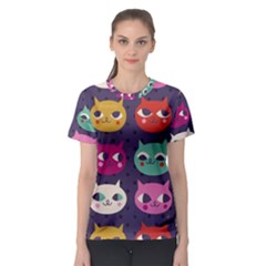 Colorful Kitties Women s Sport Mesh Tee by Brittlevirginclothing