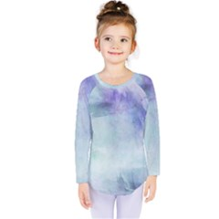 Blue Hipster Pattern Kids  Long Sleeve Tee by Brittlevirginclothing