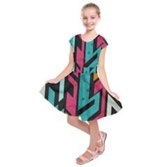Bohemian Pattern Kids  Short Sleeve Dress