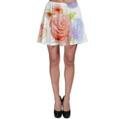 Watercolor Colorful Roses Skater Skirt by Brittlevirginclothing