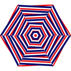 Red White Blue Patriotic Ribbons Mini Folding Umbrellas by Nexatart