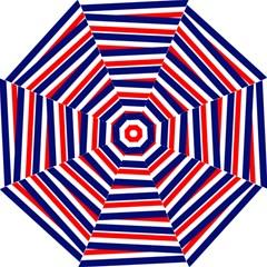 Red White Blue Patriotic Ribbons Hook Handle Umbrellas (medium) by Nexatart