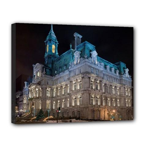 Montreal Quebec Canada Building Canvas 14  X 11  by Nexatart