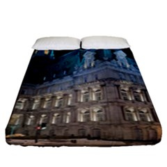 Montreal Quebec Canada Building Fitted Sheet (queen Size) by Nexatart