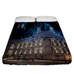Montreal Quebec Canada Building Fitted Sheet (california King Size) by Nexatart