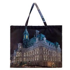Montreal Quebec Canada Building Zipper Large Tote Bag by Nexatart