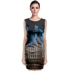 Montreal Quebec Canada Building Classic Sleeveless Midi Dress