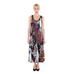 Quilt Sleeveless Maxi Dress