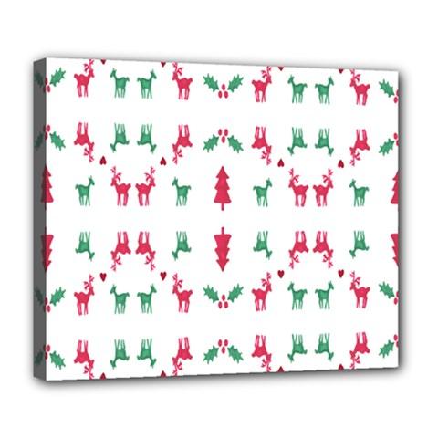 Reindeer Pattern Deluxe Canvas 24  X 20