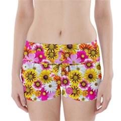 Flowers Blossom Bloom Nature Plant Boyleg Bikini Wrap Bottoms by Nexatart