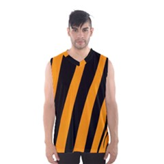 Tiger Pattern Men s Basketball Tank Top by Nexatart