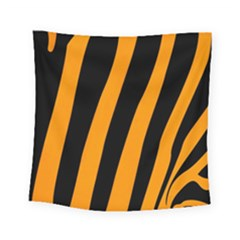Tiger Pattern Square Tapestry (small) by Nexatart